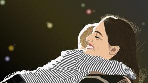Motherhood - Getting a hug
